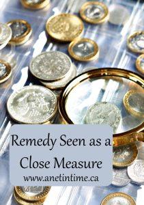 Remedy seen as a close measure