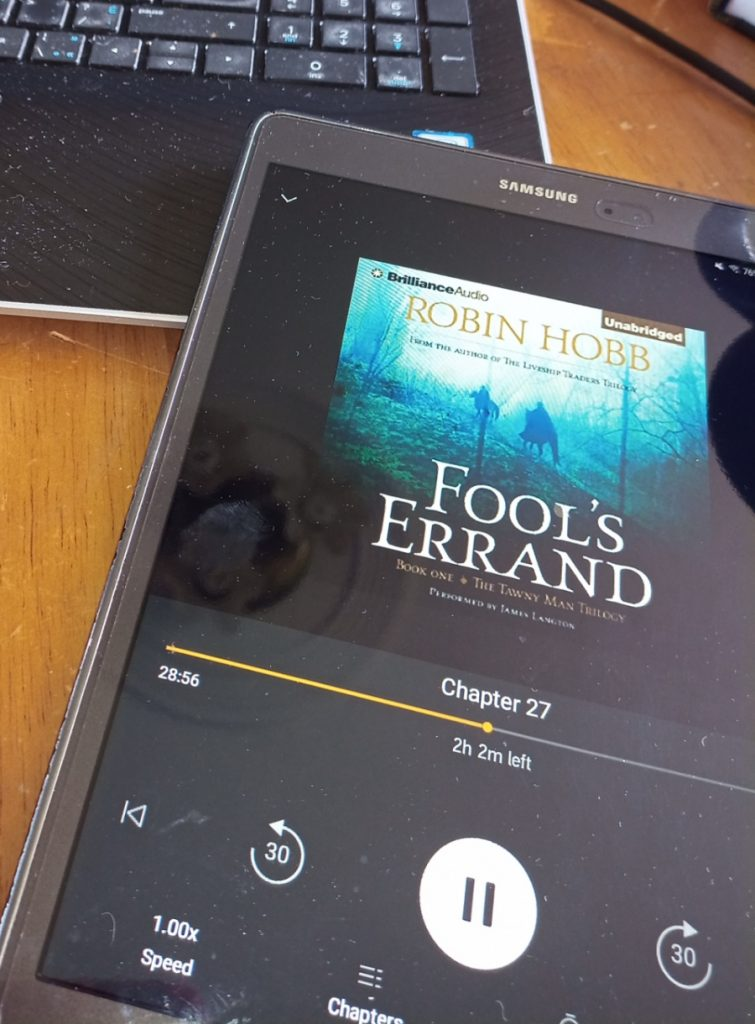 playing audible on the tablet