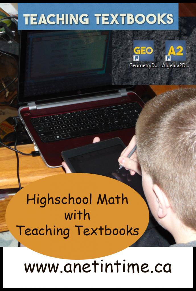 highschool math with teaching Textbooks