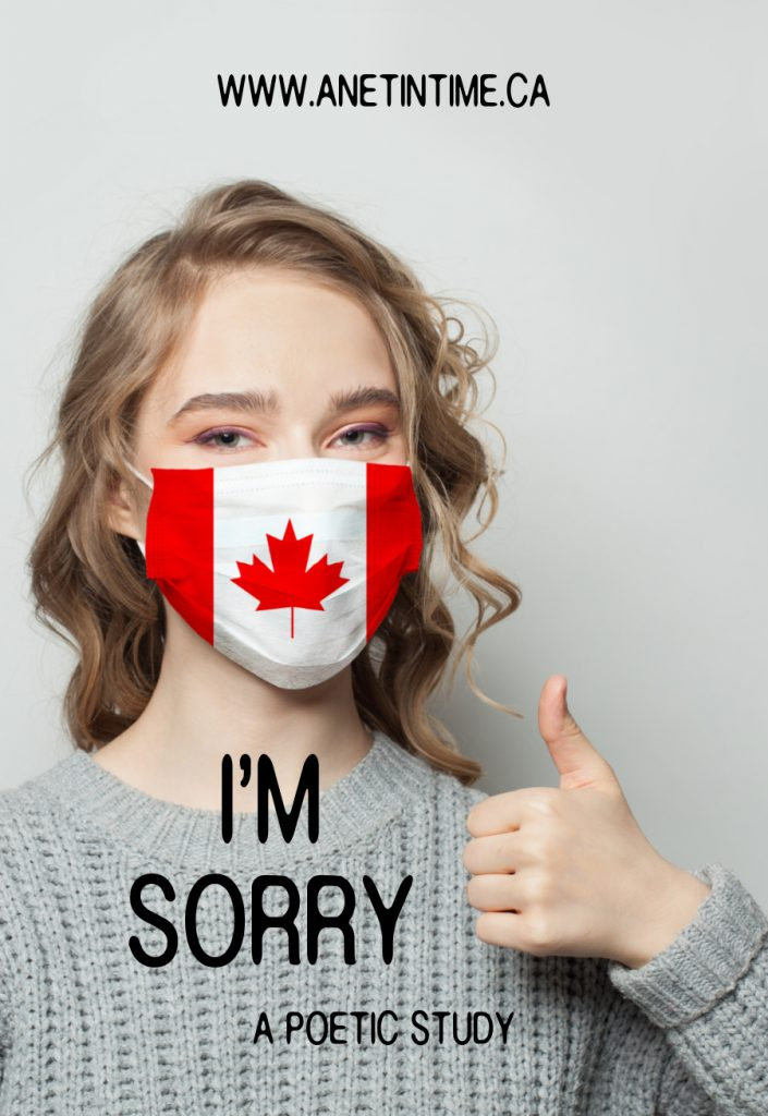 I'm sorry, girl with canada flag face mask