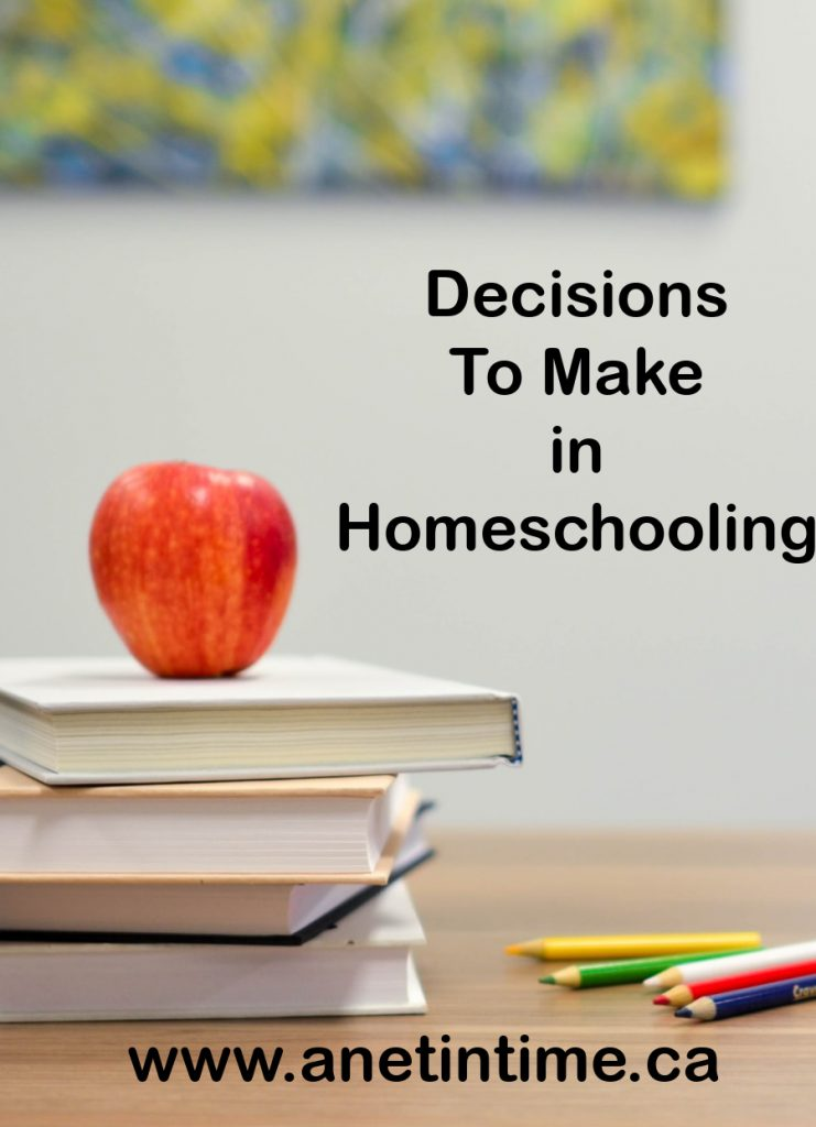 Decisions To Make in Homeschooling