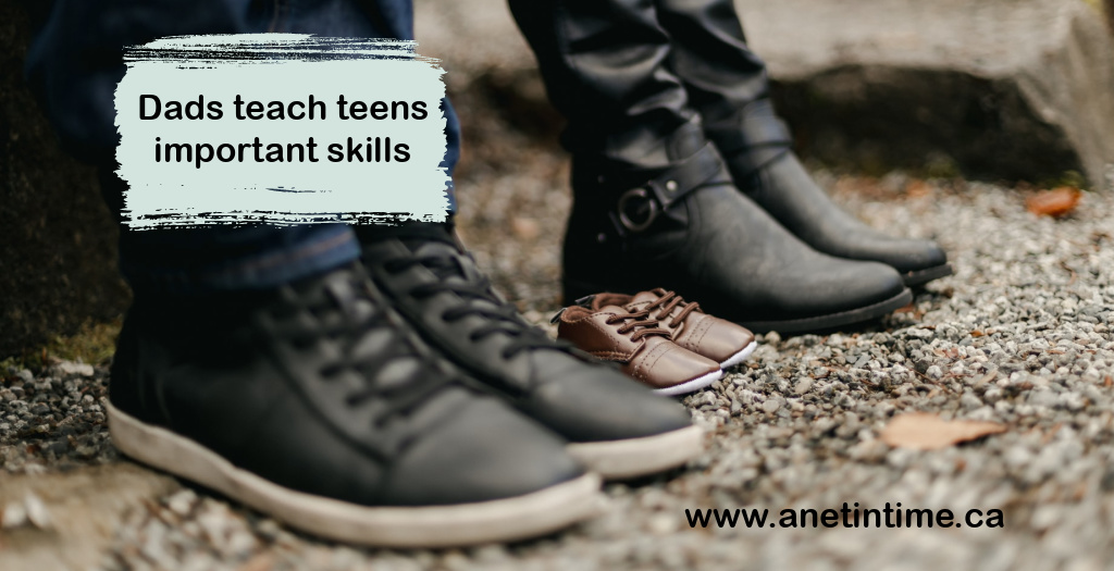 Dads teach teens important skills