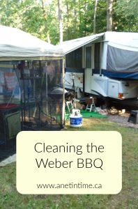 Cleaning the Weber BBQ