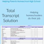 The Homescholar LLC - Total Transcript Solution